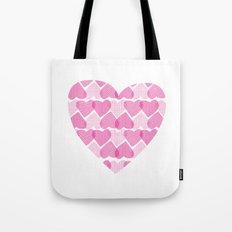 Pretty ruby heart Tote Bag