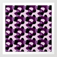 Purple Camo Pattern Art Print