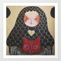 In the Thicket Hides a Foxy Spirit Art Print