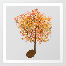 Note Tree Art Print