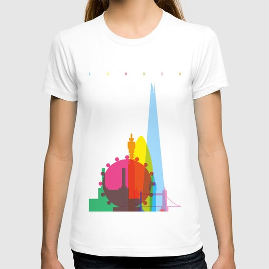 Shapes of London. Accurate to scale T-shirt