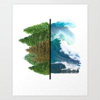 Tree And Surf Art Print