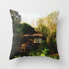 Little Houses in the Wood Throw Pillow