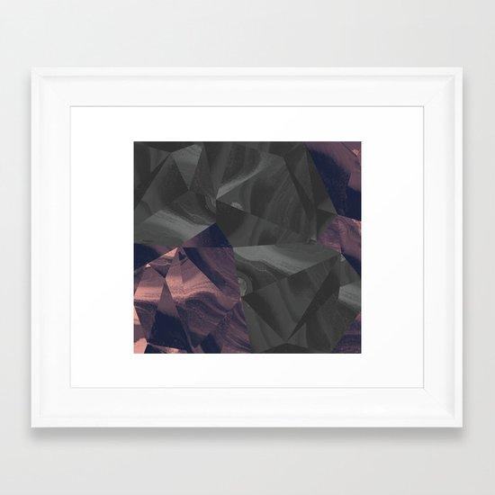 Irregular Marble Framed Art Print