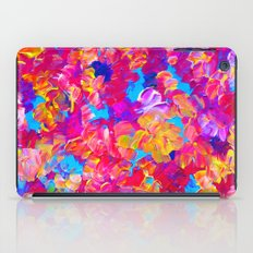 FLORAL FANTASY Bold Abstract Flowers Acrylic Textural Painting Neon Pink Turquoise Feminine Art iPad Case