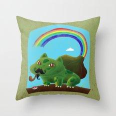 Bulbasaur  Moustache ( I… Throw Pillow