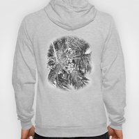 Coconuts on the palm tree in black and white Hoody