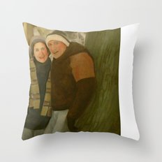 Shirley and Ken Throw Pillow