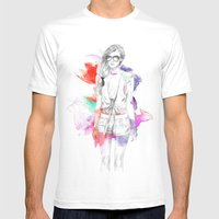 Top Shop Runway Mens Fitted Tee White SMALL