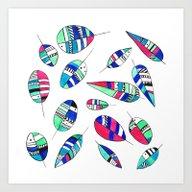 Disco Leaf Art Print