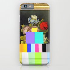 A Painting of Flowers With Color Bars iPhone 6 Slim Case