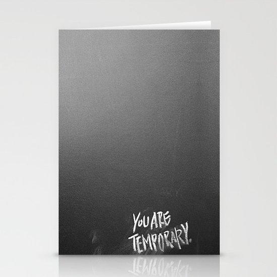 Temporary, take 3 Stationery Card