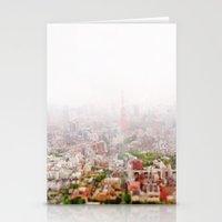 Rainy Tokyo Stationery Cards