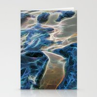 Abstract rock pool and sand on a beach in Queensland Stationery Cards