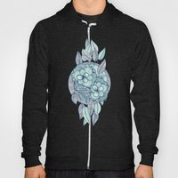 Teal Magnolias - a hand drawn pattern Hoody