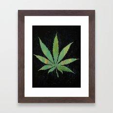 Pot Leaf Framed Art Print