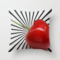Love Cherry Throw Pillow