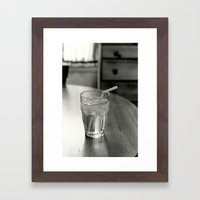 Cup of Water Framed Art Print