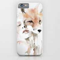 fox iPhone & iPod Cases featuring fox by Jen Mann