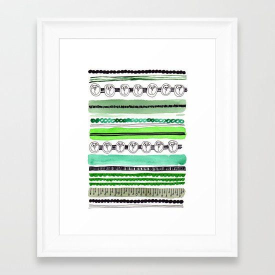 Pattern / Nr. 4 Framed Art Print