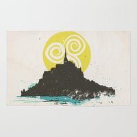 Le Mont Saint Michel (Saint Michael's Mount), Normandy, France Rug