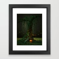Framed Art Print featuring Halloween Night by Simone Gatterwe