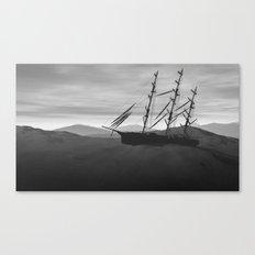 Desert shipwreck Canvas Print