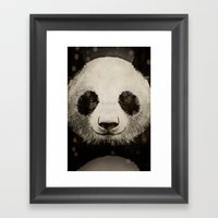 panda eyes Framed Art Print