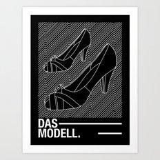 Das modell Art Print