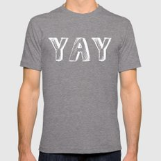 Yay Mens Fitted Tee Tri-Grey SMALL