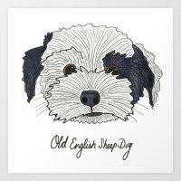 Old English Sheep Dog Art Print