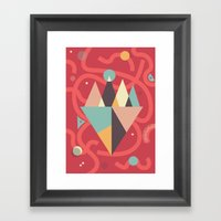 Mountains Floating In A … Framed Art Print