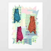 Cute little bears Art Print