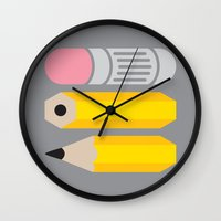 Deconstructed Pencil Wall Clock