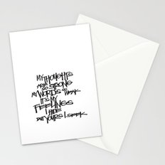 My Thoughts Are Strong Stationery Cards