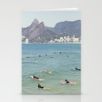Ipanema Beach Surfers Stationery Cards
