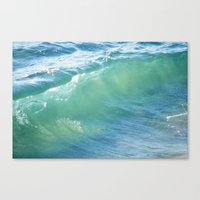 Teal Surf Canvas Print