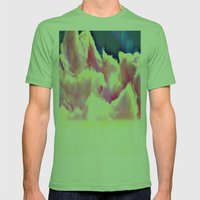 COTTON CANDY CLOUDS Mens Fitted Tee Grass SMALL