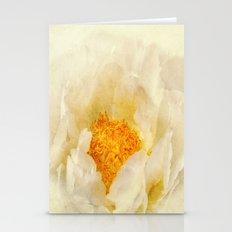 white paeonie Stationery Cards