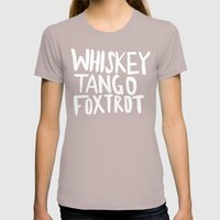 Whiskey Tango Foxtrot x WTF Womens Fitted Tee Cinder SMALL