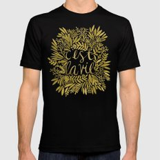 That's Life – Gold On … Mens Fitted Tee Black SMALL