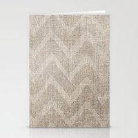 Chevron Burlap (Hessian … Stationery Cards