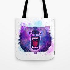 Lilac Geometric Bear  Tote Bag