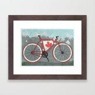 Love Bike, Love Canada Framed Art Print