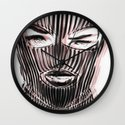 Badwood 3D Ski Mask Wall Clock