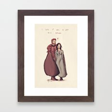 I'm hers Framed Art Print