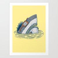 The Nerd Shark Art Print
