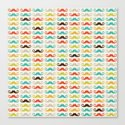 Hipster Mustaches Canvas Print