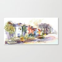 Venice Canals In Califor… Canvas Print
