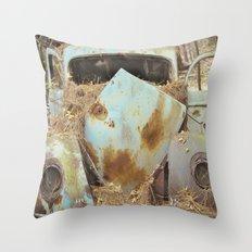 Junqueyard Blues Throw Pillow